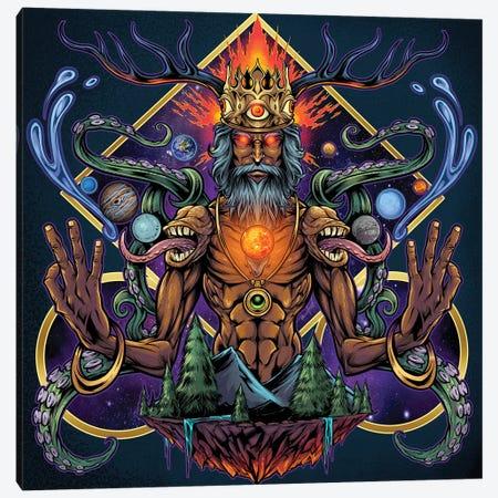 Psychedelic Meditating Mystic Canvas Print #FYD30} by Flyland Designs Canvas Print