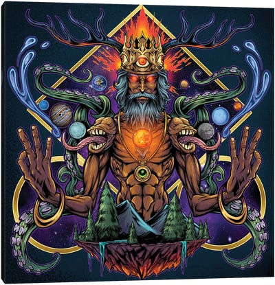 Psychedelic Meditating Mystic Canvas Art Print