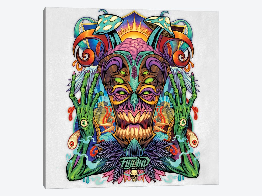 Psychedelic Tiki Creature II by Flyland Designs 1-piece Canvas Art