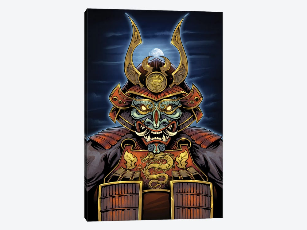 Samurai by Flyland Designs 1-piece Canvas Wall Art