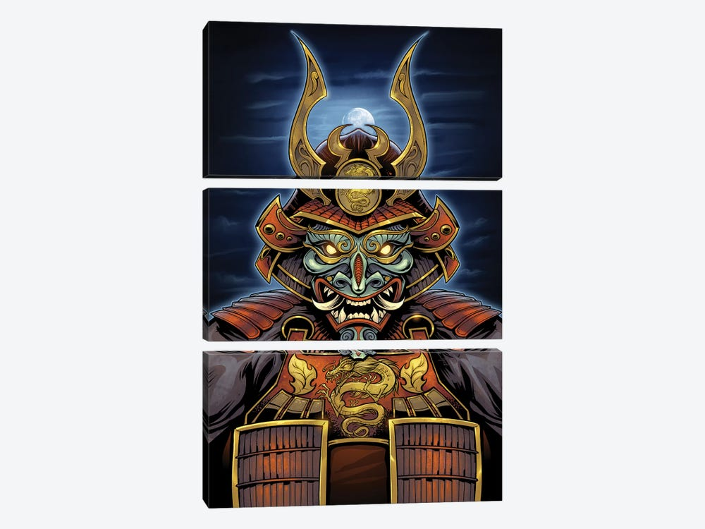 Samurai by Flyland Designs 3-piece Canvas Artwork