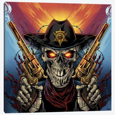 Skeleton Gunslinger Canvas Print #FYD36} by Flyland Designs Canvas Art