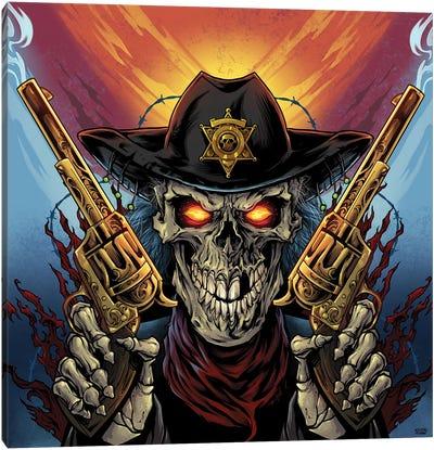 Skeleton Gunslinger Canvas Art Print