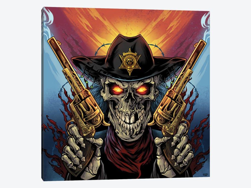 Skeleton Gunslinger by Flyland Designs 1-piece Art Print