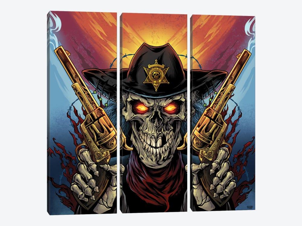 Skeleton Gunslinger by Flyland Designs 3-piece Canvas Art Print