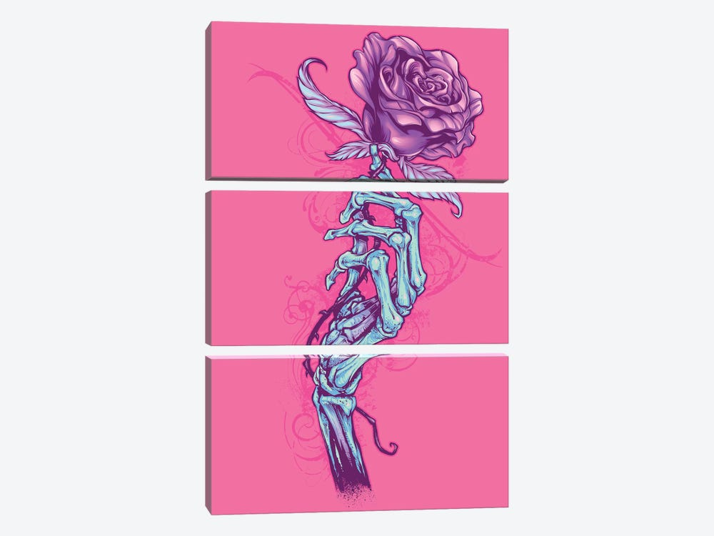 Skeleton Hand with Rose by Flyland Designs 3-piece Canvas Wall Art