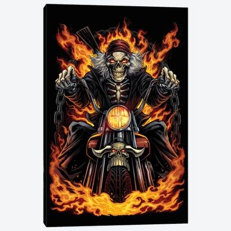 Skeleton Rider Canvas Print #FYD38} by Flyland Designs Canvas Art Print