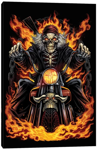 Skeleton Rider Canvas Art Print