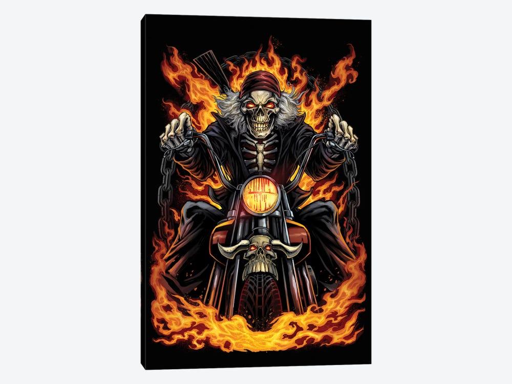 Skeleton Rider by Flyland Designs 1-piece Canvas Print