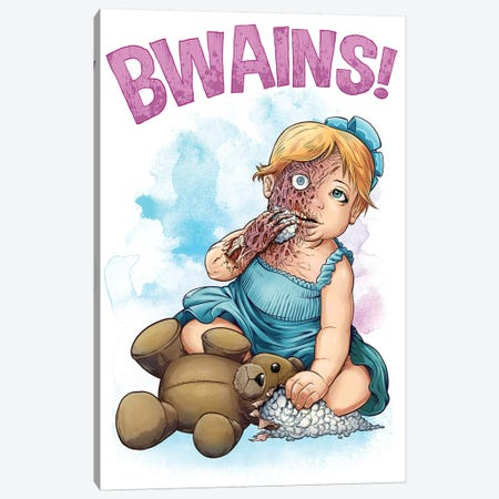 Bwains Canvas Print #FYD3} by Flyland Designs Canvas Artwork