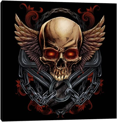 Skull and Wings Canvas Art Print