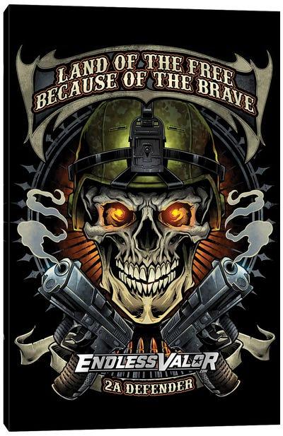 Skull Soldier and Guns Canvas Art Print