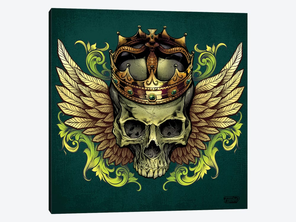 Skull With Crown and Wings by Flyland Designs 1-piece Art Print