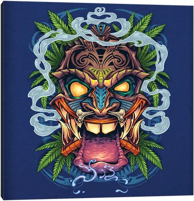 Tiki Head Canvas Art Print