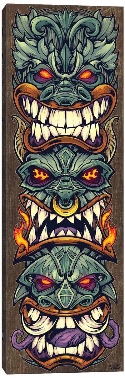 Tiki Totem, Earthtone Canvas Art Print