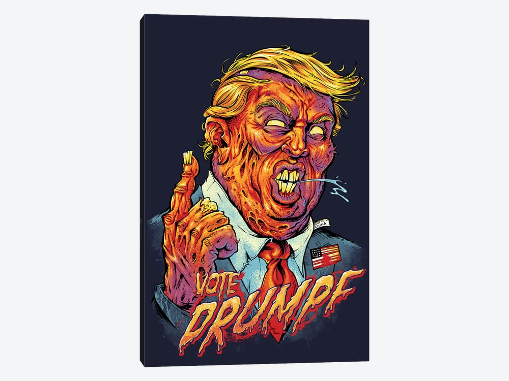 Trump Zombie by Flyland Designs 1-piece Art Print