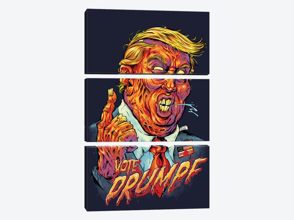 Trump Zombie by Flyland Designs 3-piece Canvas Art Print