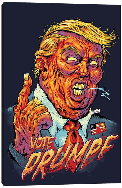 Trump Zombie Canvas Art Print