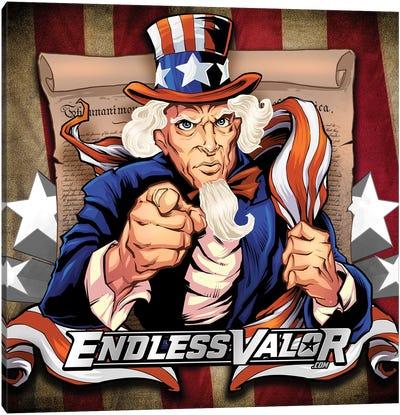 Uncle Sam Patriot Character Canvas Art Print