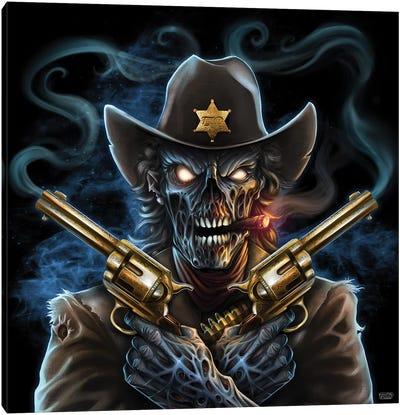 Undead Gunslinger Canvas Art Print