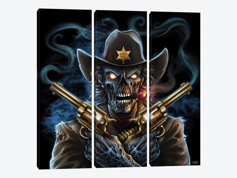 Undead Gunslinger by Flyland Designs 3-piece Art Print