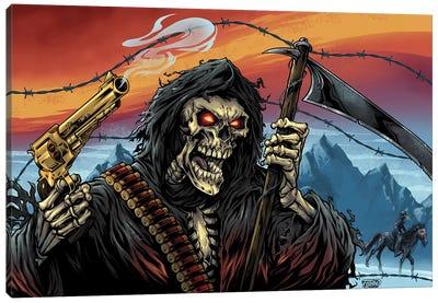 Western Grim Reaper Canvas Art Print