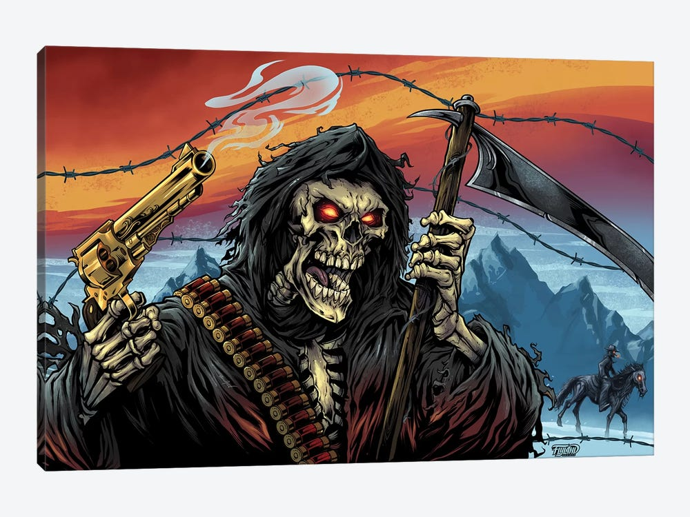 Western Grim Reaper by Flyland Designs 1-piece Canvas Art