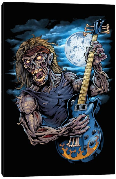 Zombie Guitar Player Canvas Art Print