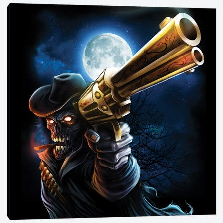 Zombie Gunslinger Canvas Print #FYD63} by Flyland Designs Canvas Art