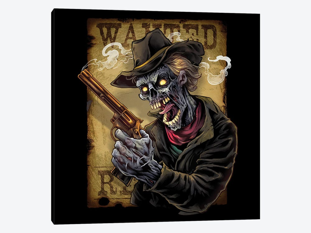 Zombie Outlaw With Revolver by Flyland Designs 1-piece Canvas Art