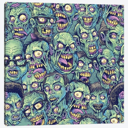 Zombie Pattern Canvas Print #FYD65} by Flyland Designs Art Print
