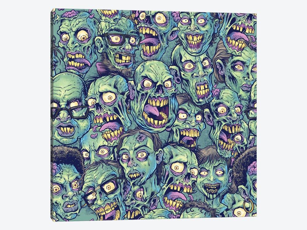 Zombie Pattern by Flyland Designs 1-piece Canvas Print