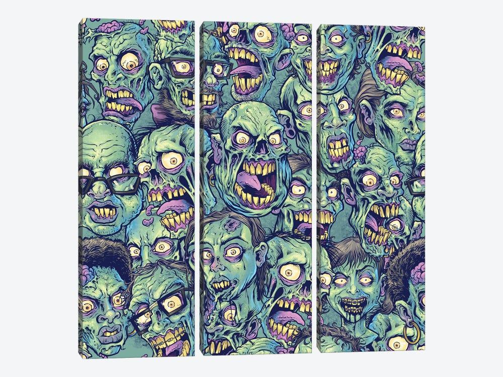 Zombie Pattern by Flyland Designs 3-piece Canvas Art Print