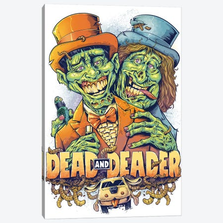 Dead and Deader Canvas Print #FYD7} by Flyland Designs Art Print
