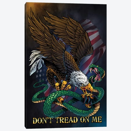 Don't Tread On Me Canvas Print #FYD8} by Flyland Designs Canvas Wall Art