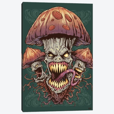 Evil Mushroom Canvas Print #FYD9} by Flyland Designs Canvas Artwork