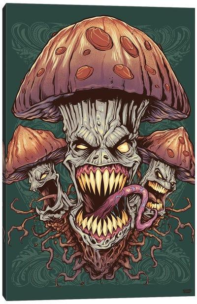 Evil Mushroom Canvas Art Print