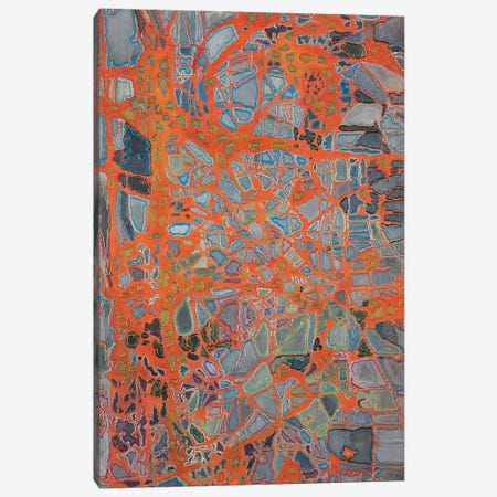 Lava Love Canvas Print #FYL12} by Florencio Yllana Art Print