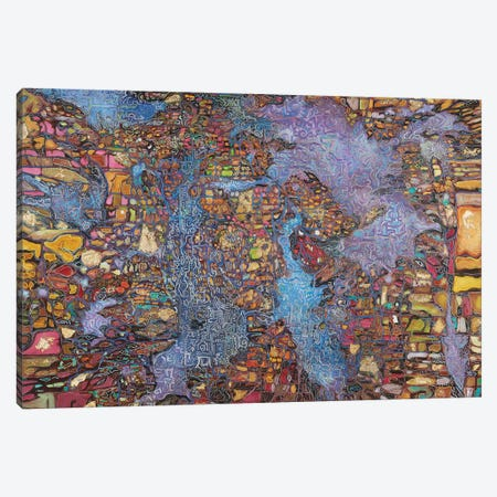 Sky City Canvas Print #FYL24} by Florencio Yllana Canvas Art Print