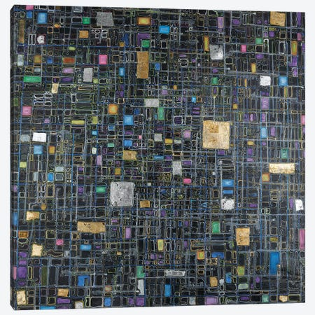 The Metropolis Canvas Print #FYL30} by Florencio Yllana Canvas Print