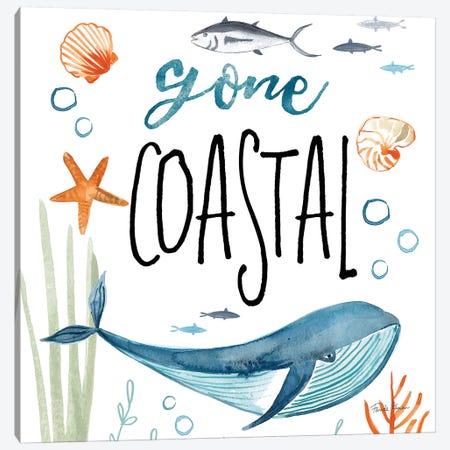 Whale Tale I Gone Coastal Canvas Print #FZA103} by Farida Zaman Canvas Art Print