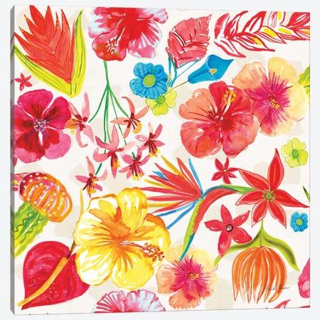 Tutti Frutti Pattern IA Canvas Print #FZA109} by Farida Zaman Art Print