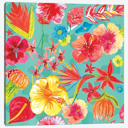 Tutti Frutti Pattern IB Canvas Print #FZA110} by Farida Zaman Canvas Wall Art