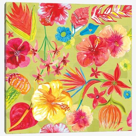 Tutti Frutti Pattern IC Canvas Print #FZA111} by Farida Zaman Canvas Wall Art