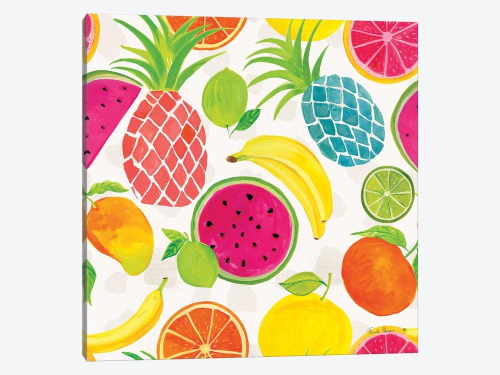 Tutti Frutti Pattern IIIA 1-piece Canvas Art Print