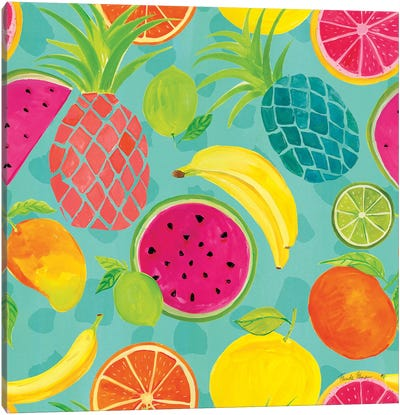 Tutti Frutti Pattern IIIB Canvas Art Print