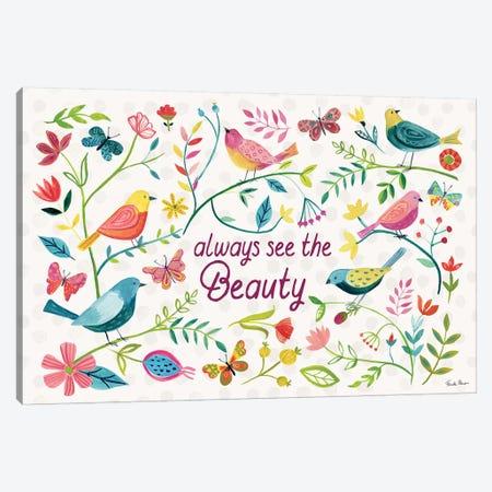 Budding Beauty I Canvas Print #FZA123} by Farida Zaman Canvas Art Print