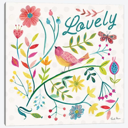 Budding Beauty II Canvas Print #FZA125} by Farida Zaman Canvas Artwork
