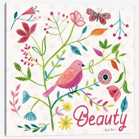 Budding Beauty III Canvas Print #FZA127} by Farida Zaman Canvas Art