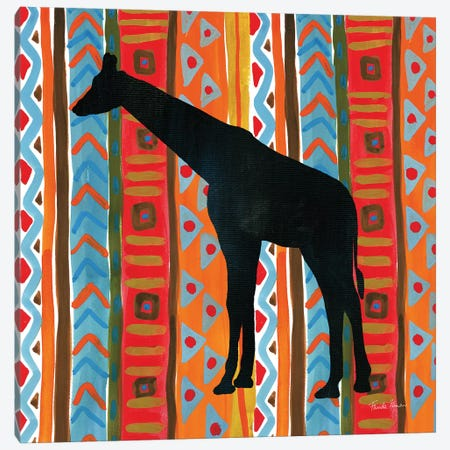 African Animal III Canvas Print #FZA12} by Farida Zaman Canvas Wall Art
